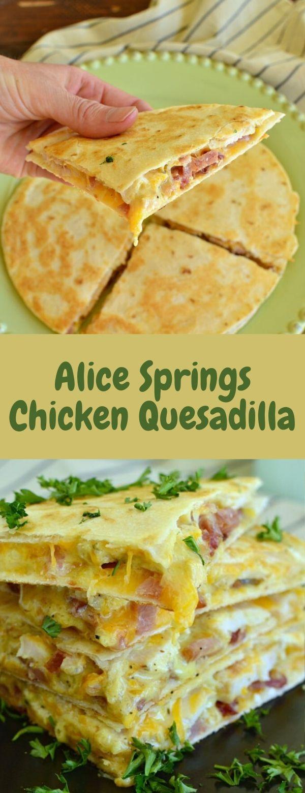 Alice Springs Chicken Quesadilla