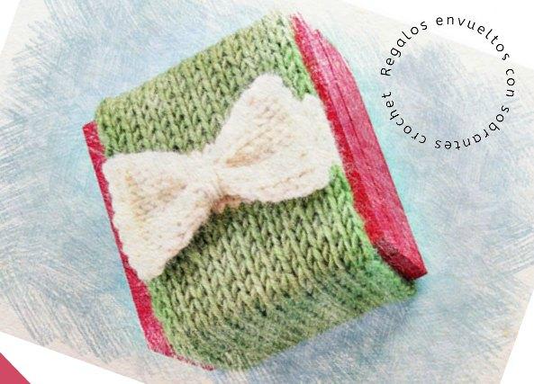 Regalos envueltos con sobrantes de lanas en crochet. Navidad