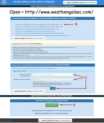 WBCSSC Upper Primary TET Admit Card Downloading Image