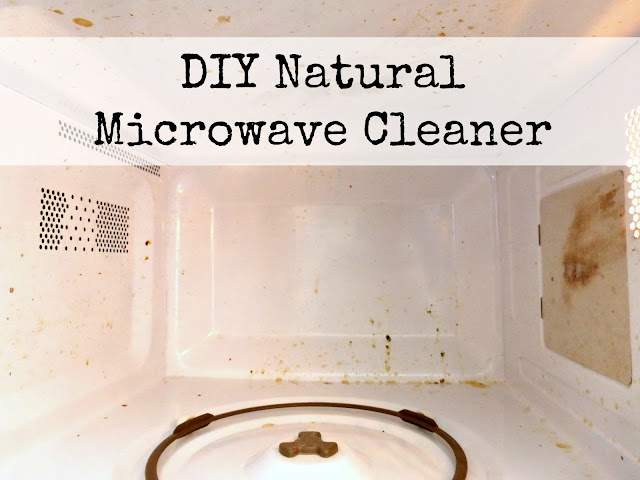 diy natural and homemade way to clean cooked on microwave grime