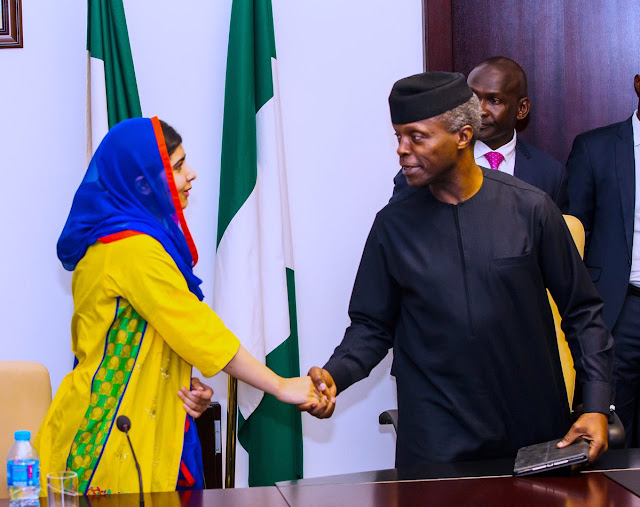 Malala-Yousafzai-visits-Osinbajo