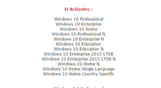 It help to windows 10 all version activator