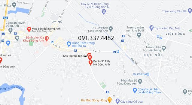 Khu Nhà Ở Liền Kề Calyx Residence Dự Án 319 Bộ Quốc Phòng Uy Nỗ Đông Anh mặt đường Cổ Loa TP Hà Nội