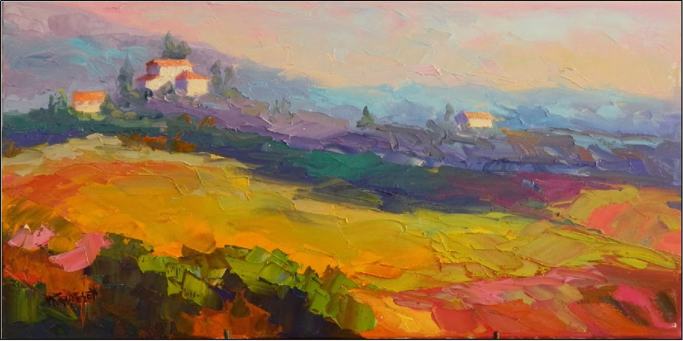 Paint Dance Quot Morning In Umbria Quot 12x24 Oil On Canvas
