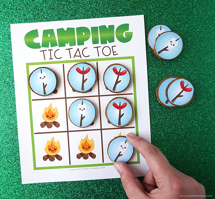 Free Printable Camping Tic Tac Toe Game