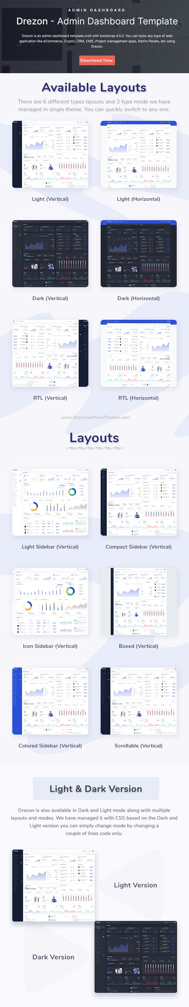 HTML & Laravel Admin Dashboard Template