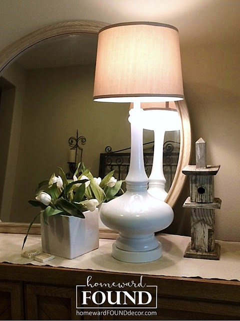 lamps, lighting, vintage lamps, paint, painting, one step painting, diy, diy home decor, decorating