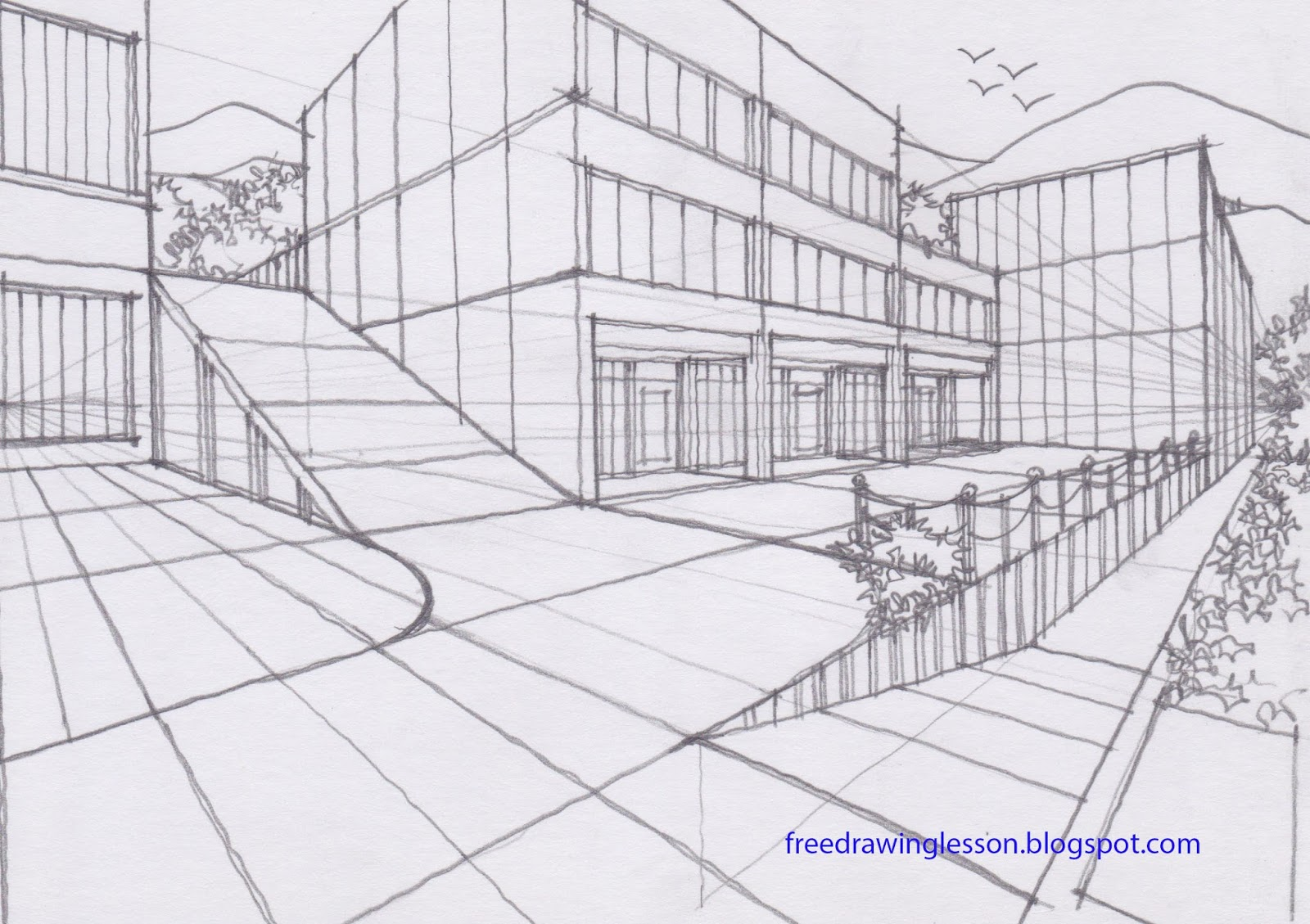 Draw Ramp In Two Point Perspective