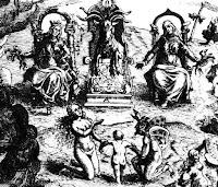 Grabado sobre los juicios por brujería de Pierre de Lancre