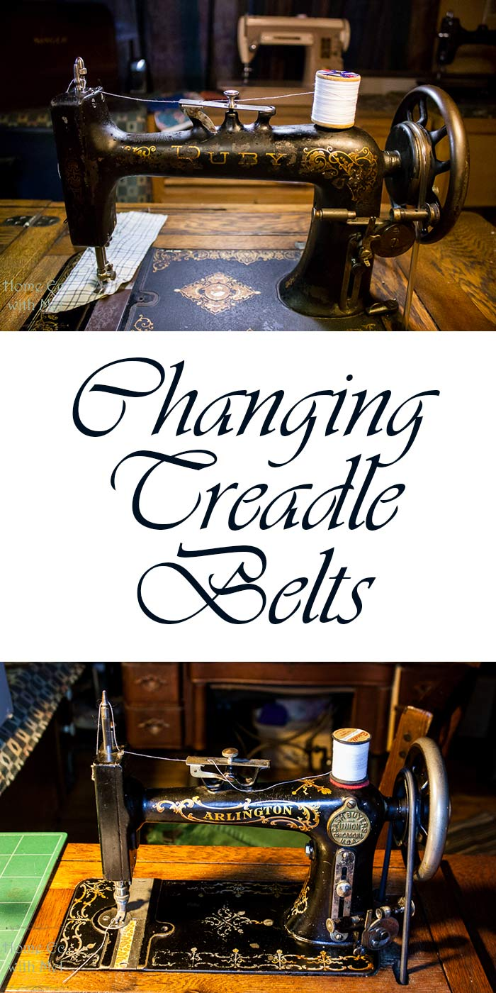 changing treadle belts pinterest