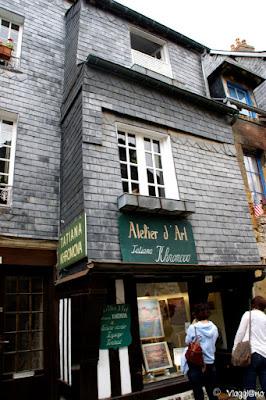 Abitazioni tipiche nel centro storico di Honfleur