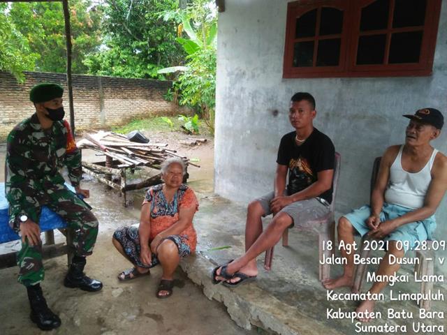 Tingkatkan Kerjasama, Personel Jaajran Kodim 0208/Asahan Gelar Komsos Dengan Masyarakat Binaan