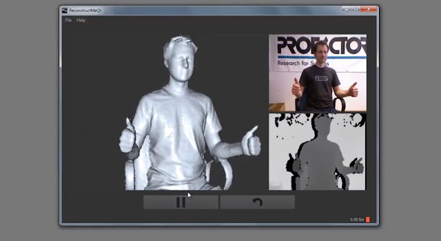 how to use reconstructme, reconstruct me 3d capture, kinect