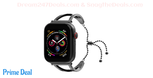 70% off Rockvee Bracelet Compatible with Apple Watch 38mm 40mm 42mm 44mm, Stainless Steel Dressy Jewelry Bracelet Bangle Wristband for iWatch Series 4/3/2/1, Women Girls