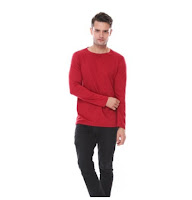 Kaos Polos Lengan Panjang 100%ASLI Cotton Combed 30S