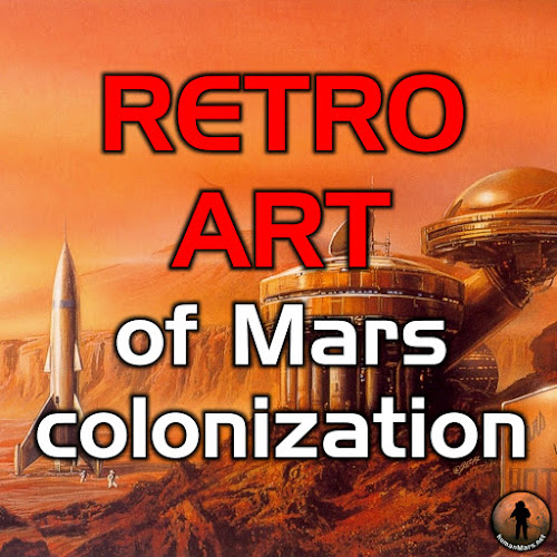 Retro art of Mars colonization