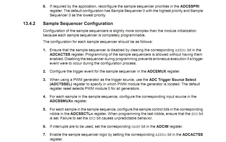 TM4C123GH6PM(TIVA C SERIES TM4C123G Evaluation Kit) ADC_0 Module