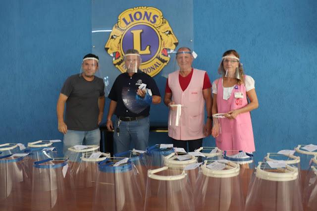 CONVEM e Lions Clube fazem doação de protetores faciais para o HB