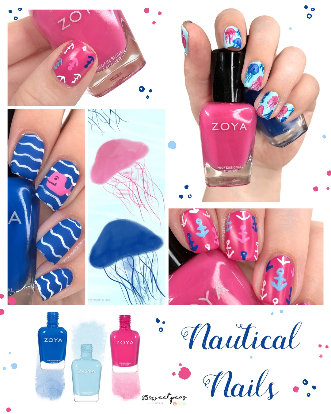 3 Nautical Nail Art Looks for Summer
