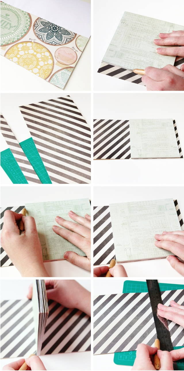 Diy notebook using perfect binding