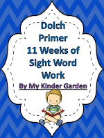 Dolch Primer 8 Weeks of Sight Word Work