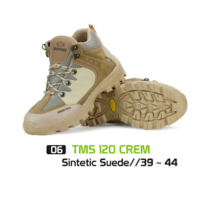 Sepatu Gunung Trekking TMS 120 Cream