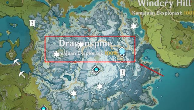dragonspine ekspolarasi 100%
