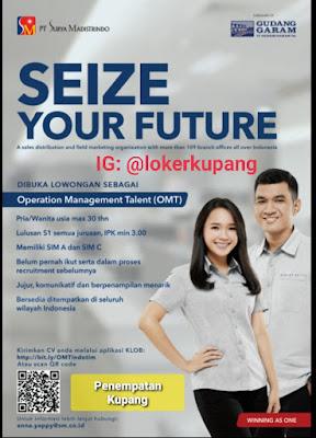 Lowongan Kerja PT Surya Madistrindo Sebagai Operation Management Talent (OMT)
