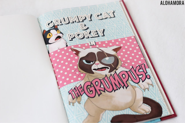 Grumpy Cat and Pokey: Grumpus! by Ben McCool and other authors.  Grumpy Cat is a comic book.  This is the 3rd Grumpy Cat book, and apparently I don't think like others for giving this book 2 out of 5 stars in my book review. Comics. Random. Reluctant Readers. Alohamora Open a Book alohamoraopenabook https://alohamoraopenabook.blogspot.com/