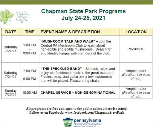 7-25 Chapman State Park Programs