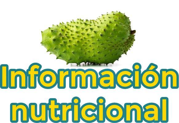 información nutricional de la guanábana