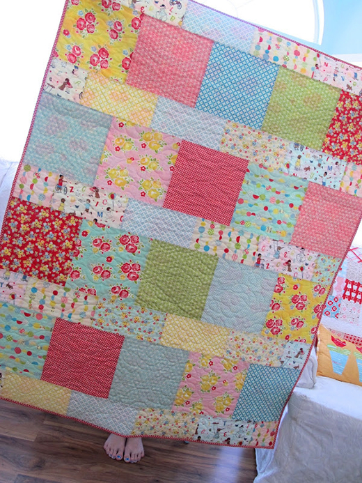 Layer Cake Lemonade Quilt made by Lori Holt of Bee in my Bonnet, The Pattern designed by It's Sew Emma