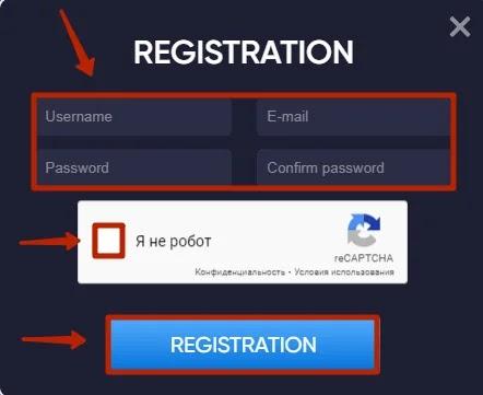 Регистрация в Cloud Mining Mineex 2