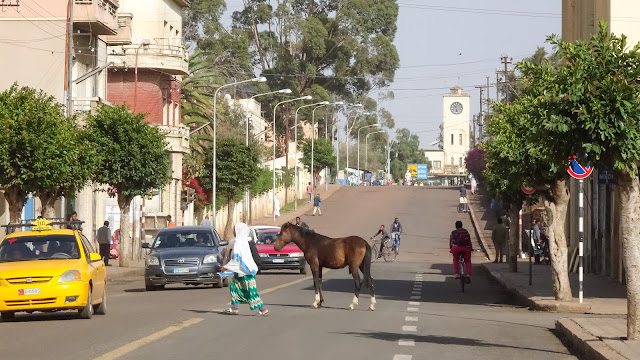 Eritrea uses horses to cross the roads