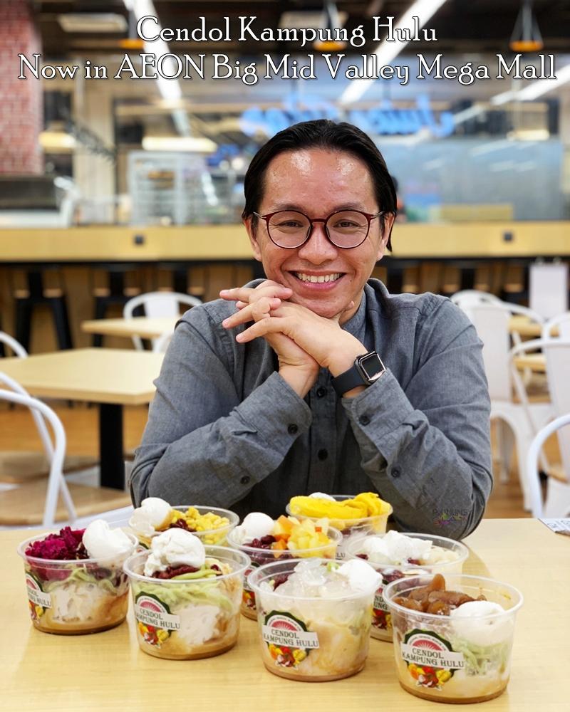 Cendol Kampung Hulu, Cendol Viral, Cendol sedap di Melaka, Cendol Kampung Hulu di AEON Big Mid Valley Mega Mall, Rawlins Eats, Rawlins GLAM