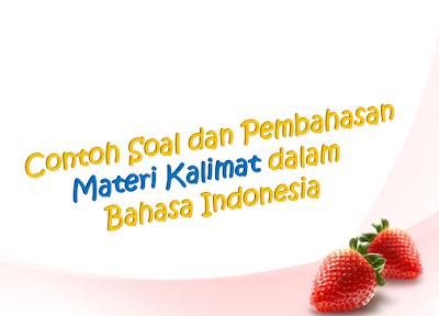 Contoh Soal dan Pembahasan Materi Kalimat dalam Bahasa Indonesia