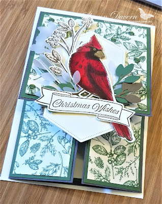 Christmas Card, Toil Tidings, Toil Christmas, Double Dutch Card, 2019 Holiday catalogue,Fun Fold, Fancy Fold, #loveitchopit, Rhapsodyincraft, Stampin' Up