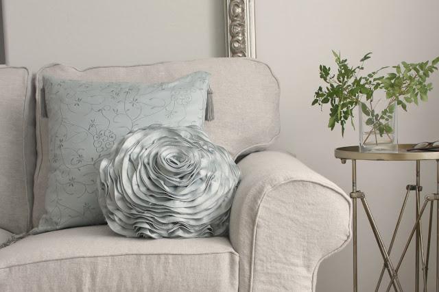 Bemz Belgian linen slipcover for Ektorp Sofa in Arizona fixer upper of Hello Lovely Studio