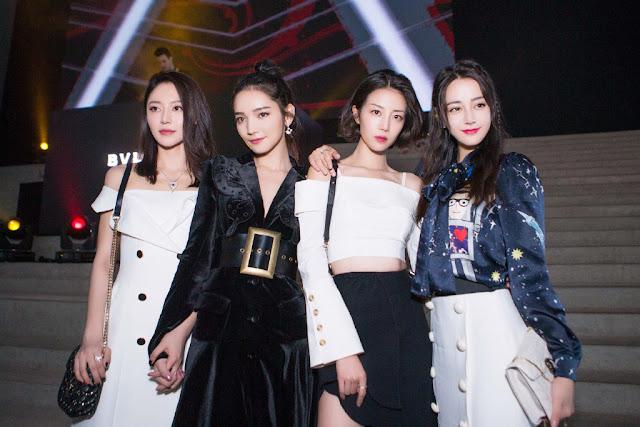 Maggie Huang, Dai Si, Li Xi Rui and Dilraba