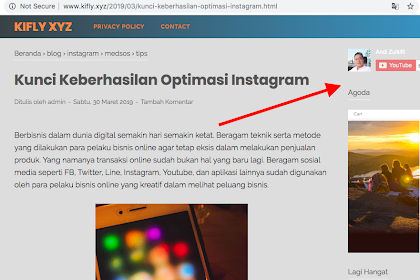 Cara Pasang Widget Youtube Channel di Blogspot
