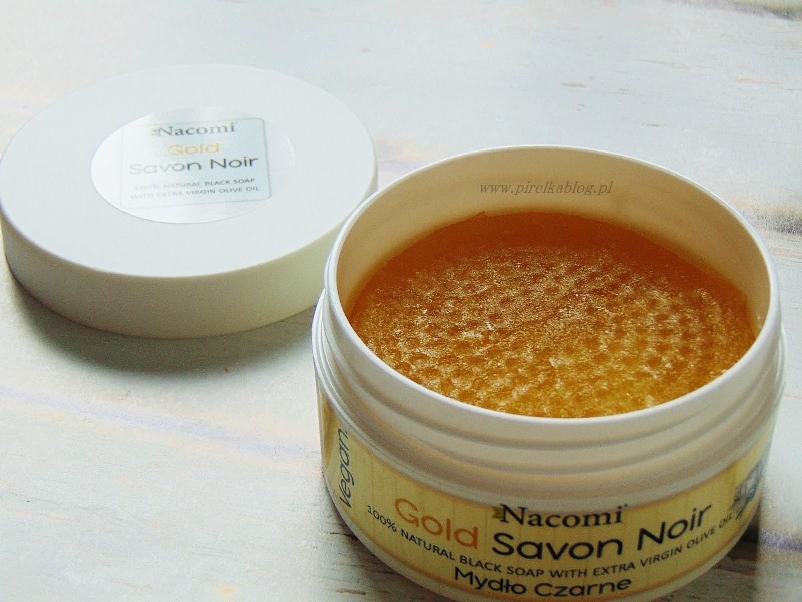 Gold Savon Noir - Złote Czarne Mydło z oliwą z oliwek Nacomi