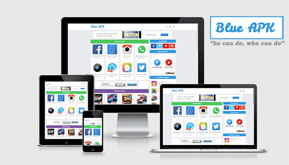 Blue APK Android Apps Download Blogger Template