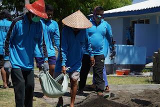 Disnav Kelas I Surabaya Padat Karya di Kawasan Menara Suar Tanjung Pacinan