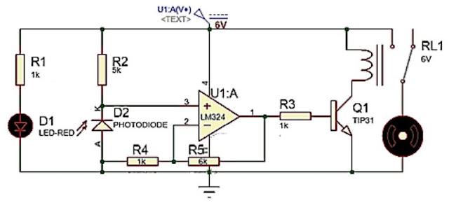 Implementasi Sensor Photodioda dengan Kendali On / Off