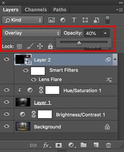 cara membuat efek rays of light di photoshop