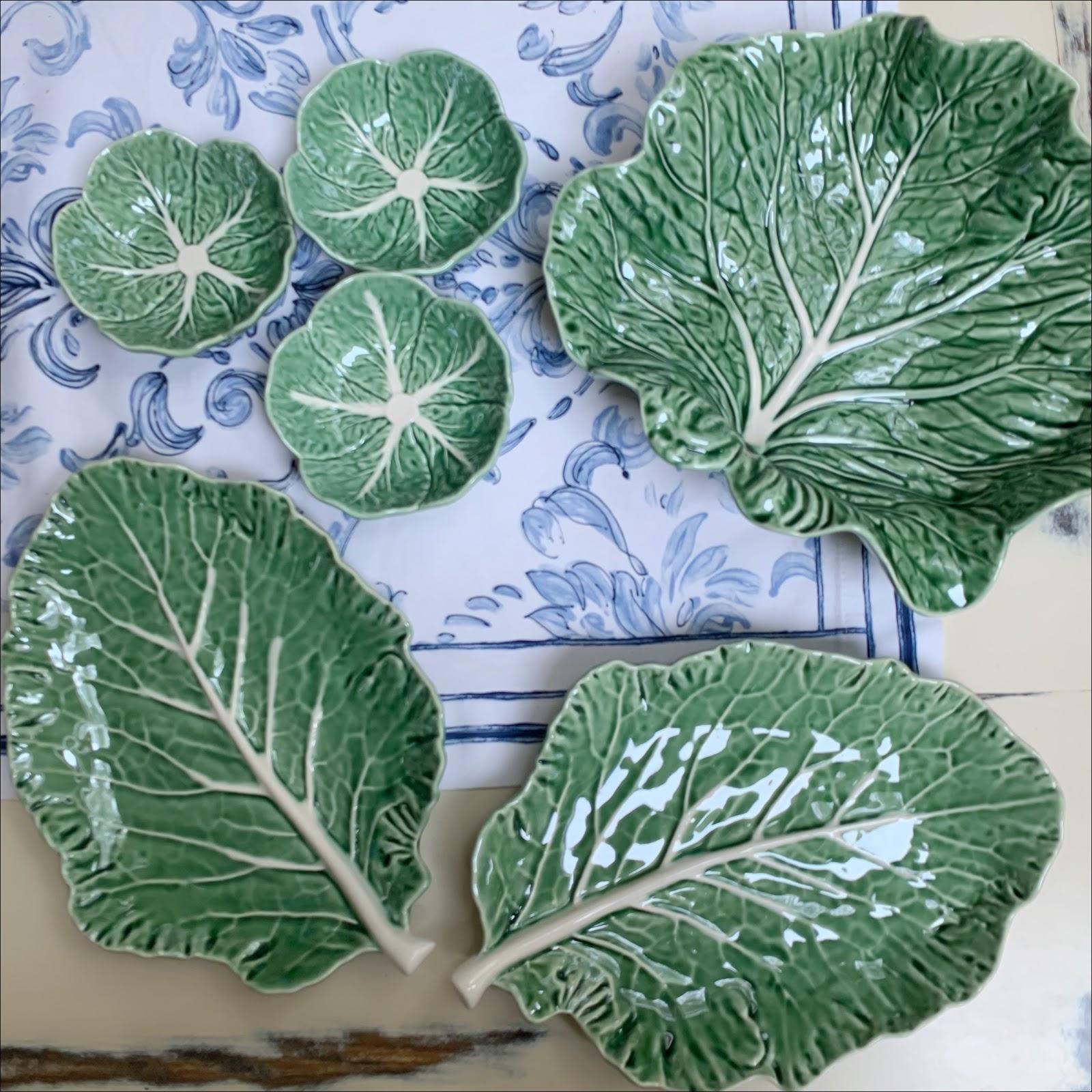 my midlife fashion, arket, bordallo pinheiro leaf plate, bordallo pinheiro concave leaf, bordallo pinheiro cabbage bowl