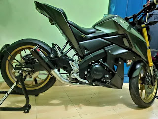 Xabre Modifikasi Ganti Knalpot Racing, knalpot 3tech, tridente,