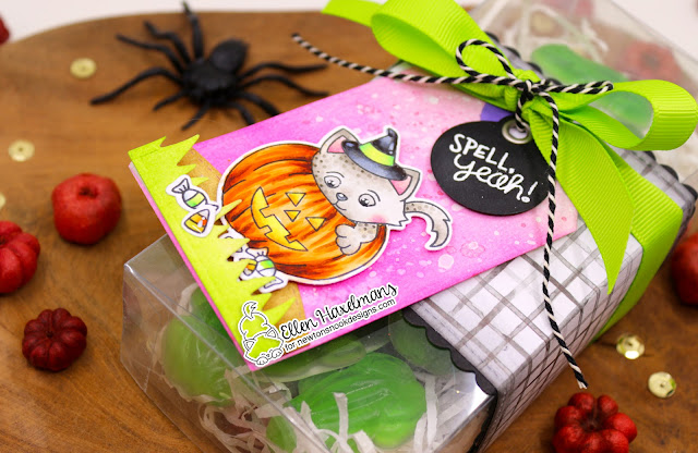 Halloween gift tag by Ellen Haxelmans | Trick or Treat Kittens by Newton's Nook Designs #newtonsnook #handmade