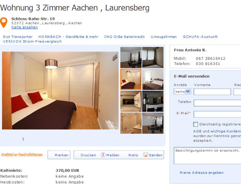Wohnung Aachen Laurensberg