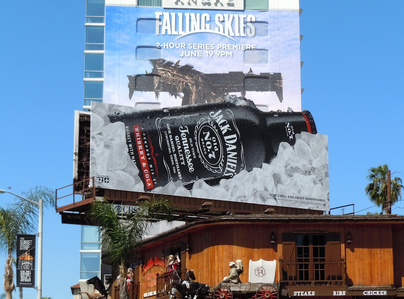 Jack Daniels bottle billboard Sunset Strip